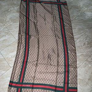 Gucci silk long scarf